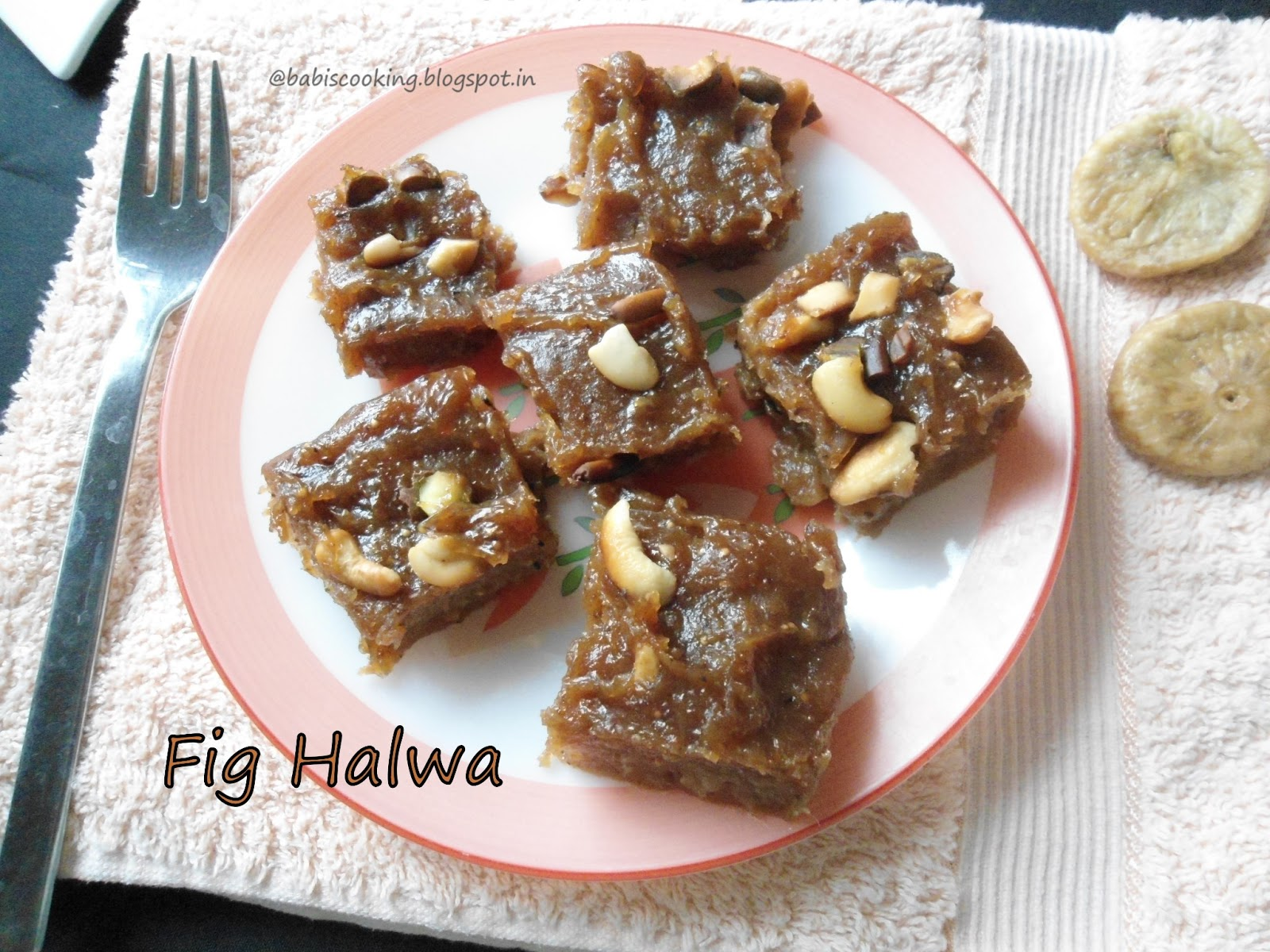 Fig and dates halwa