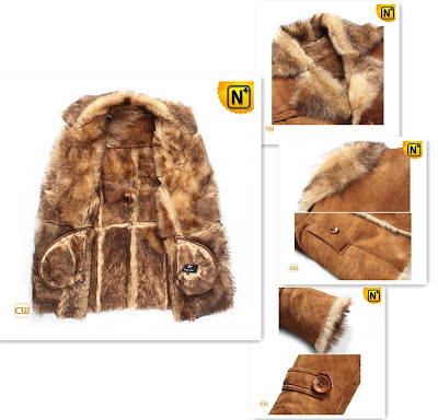 Mens Shearling Sheepskin Coat