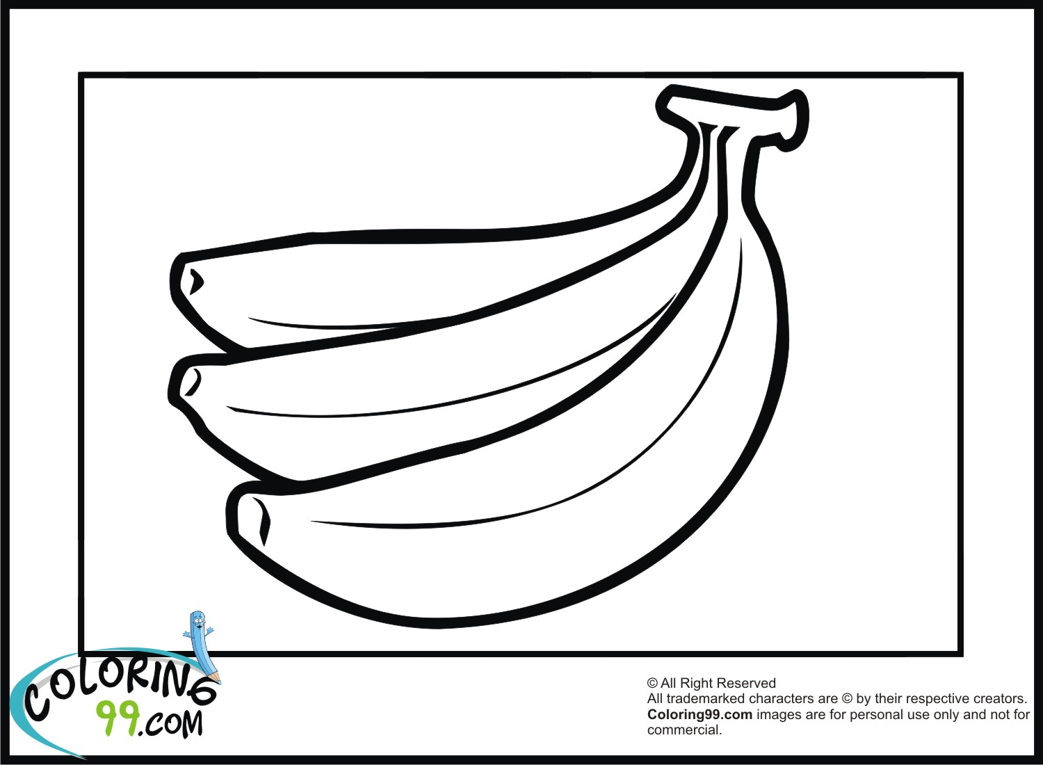 Banana Coloring Pages Team colors