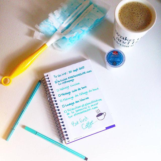 """Le dimanche: le secret de la """"to do list"""" et de la planification."""