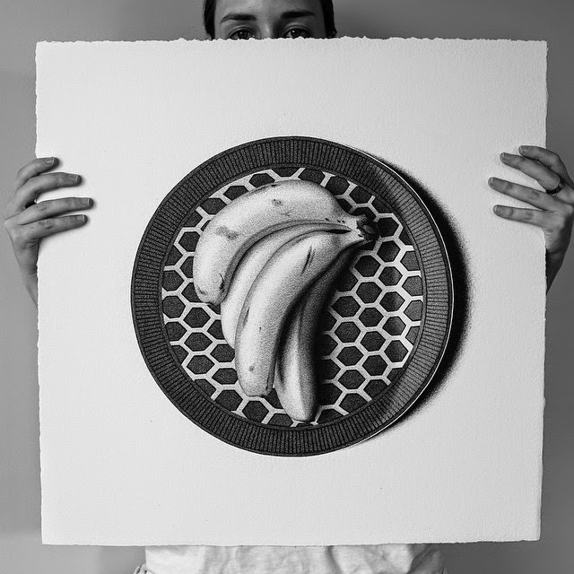 04-Bananas-C-J-Hendry-Hyper-Realistic-Drawings-of-Food-www-designstack-co