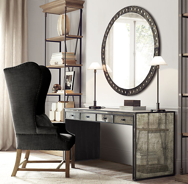 In search of the perfect round mirror driven by decor for Restoration hardware round mirror