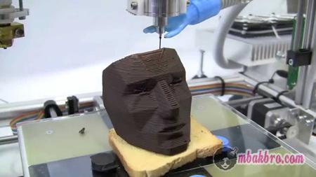 cokelat cetakan printer 3D