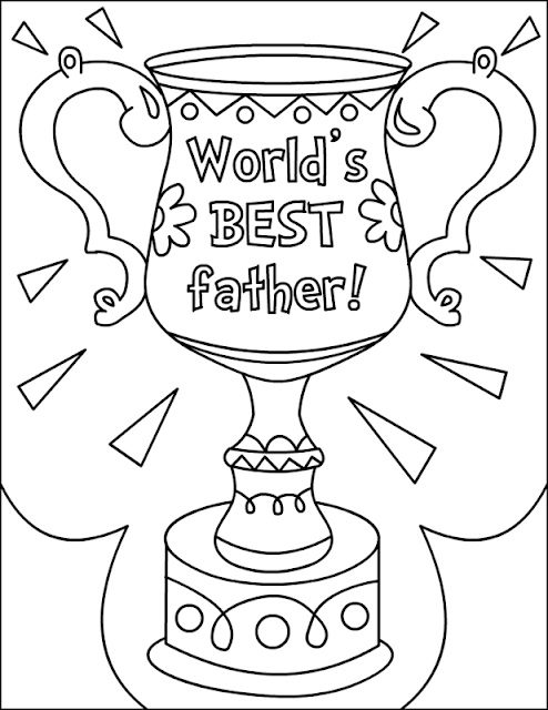 Free Father's Day Coloring Posters Pages Graphics