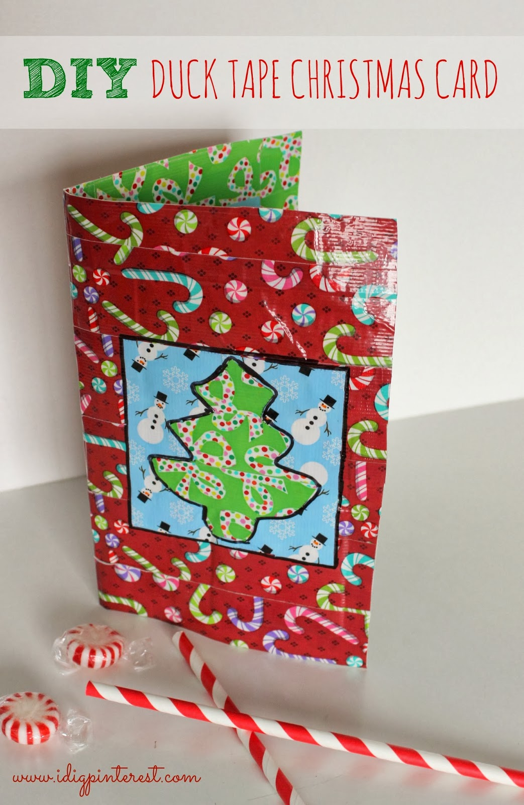 DIY Duck Tape Christmas Card with Built-In Gift Card Pocket! - I Dig ...