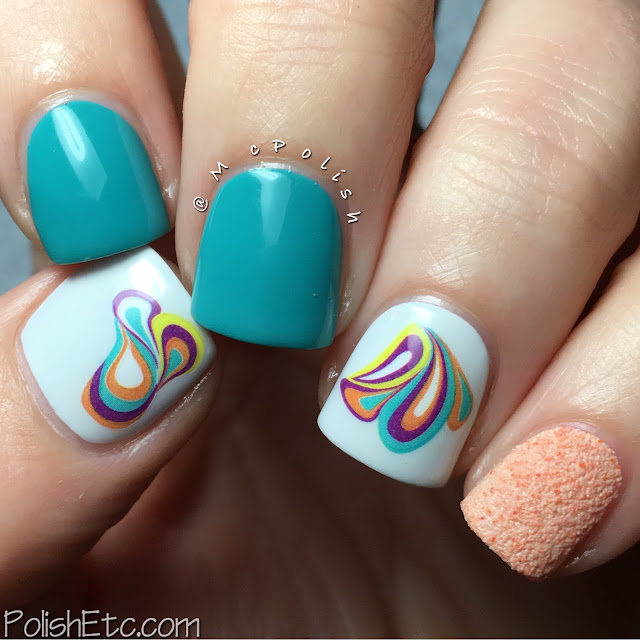 Skittlette mani with Born Pretty Store water decals by McPolish