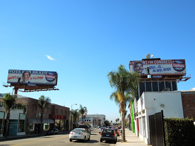 Campaign movie billboard installation Hollywood