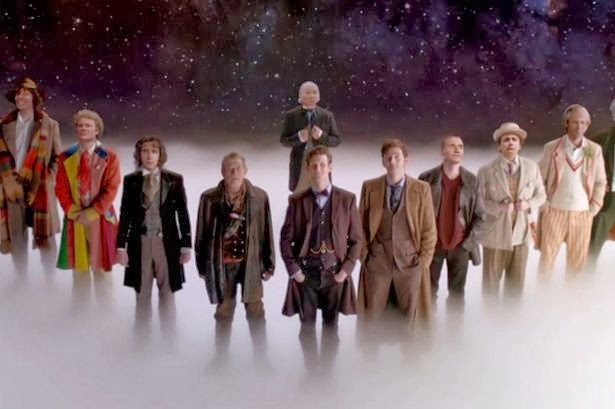 All of the doctors from the television series Doctor Who
