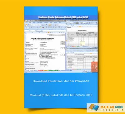 Download Pendataan Standar Pelayanan Minimal (SPM) untuk SD dan MI Terbaru 2015