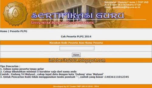 Info, jadwal, lokasi, dan peserta PLPG FKIP UNS 2014
