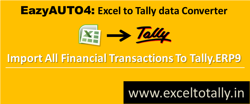 Excel to Tally ERP 9 | GST Billing Software