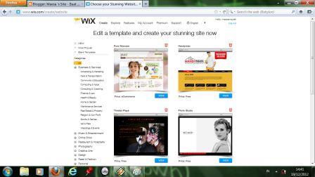 how to change wix template - maesa 39 s site pembuatan web sederhana menggunakan tools wix