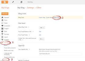 delete blogspot site