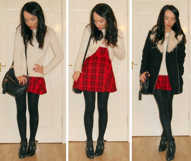 tartan dress ootd