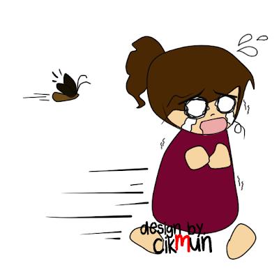 doodle, lipas, cik mun, menangis, lari, dikejar, sedih, kartun