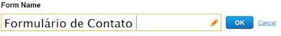 nome do formulário
