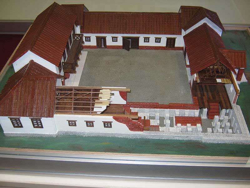Ancient Roman Villa Model