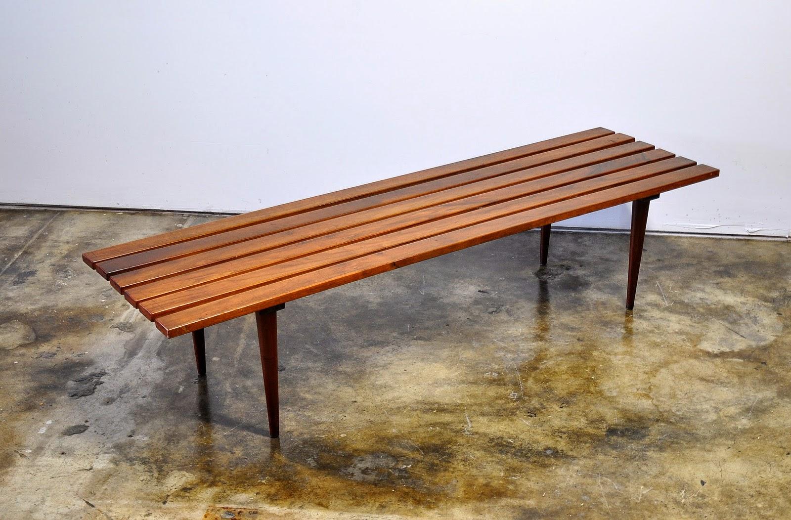 Mid Century Modern Slat Bench Part - 16: Mid Century Modern Slat Bench Or Coffee Table