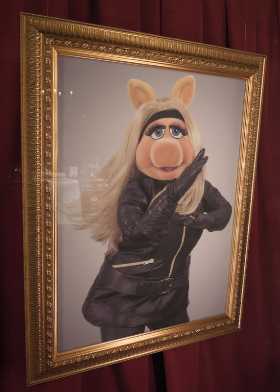 Miss Piggy spandex leather costume portrait