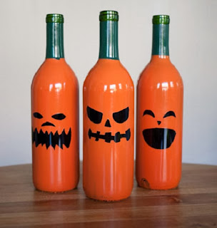 Decoración para Halloween con Materiales Reciclados: Botellas de Vidrio