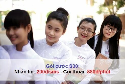 Đăng ký gói cước S30 của Mobifone