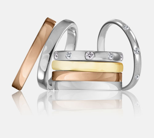 de boda inspiradas en los anillos de boda
