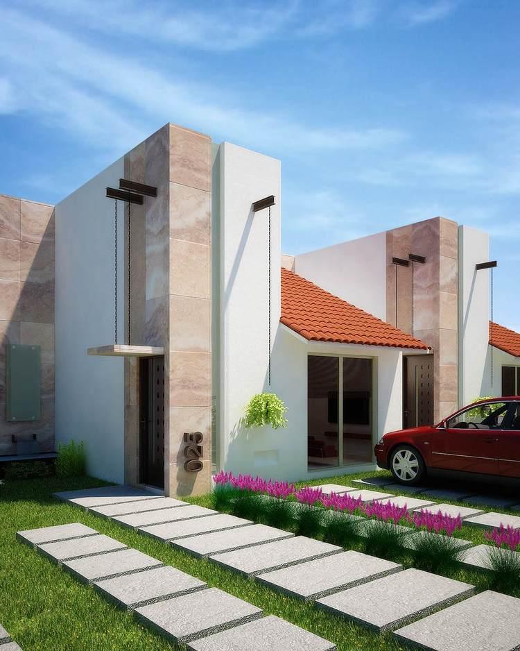 Fachadas mexicanas y estilo mexicano fachada for Fachadas de casas mexicanas