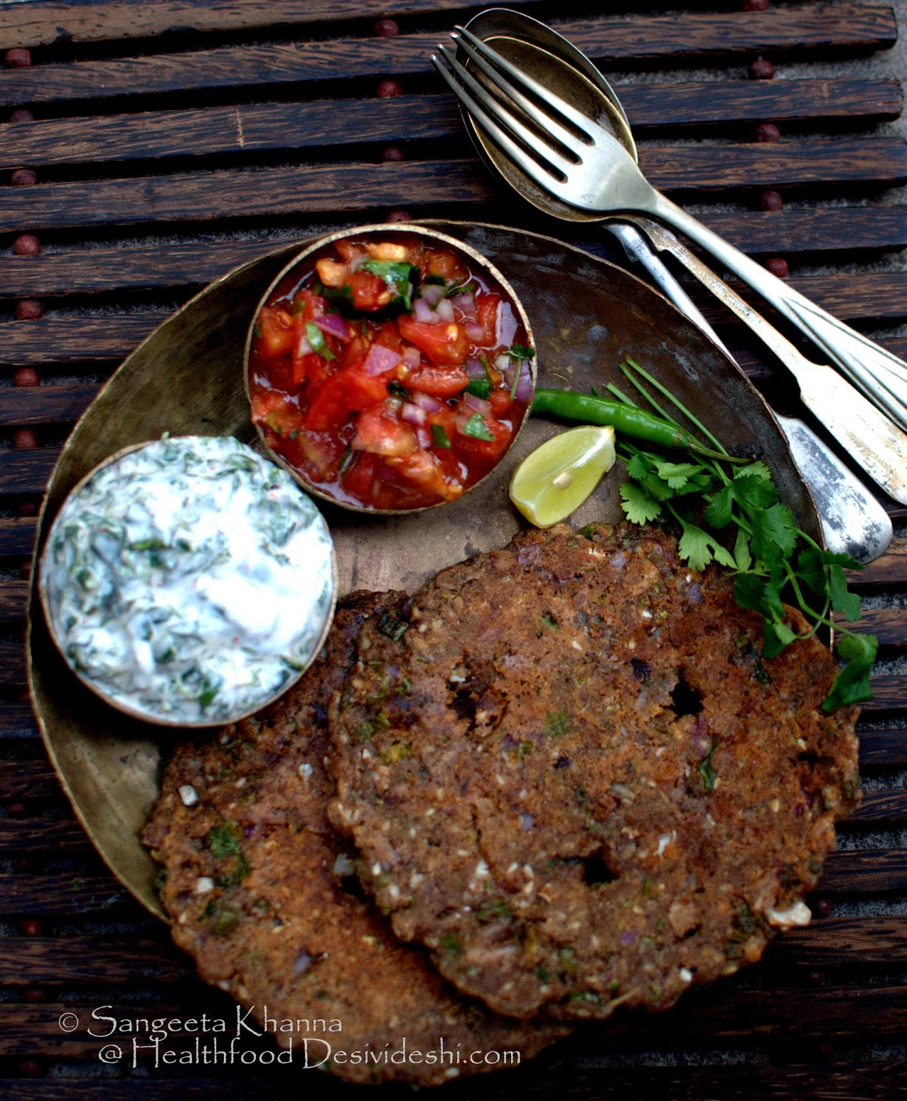 101 alternative flours : how to use ragi flour and a recipe of ragi thalipeeth with seasonal vegetables