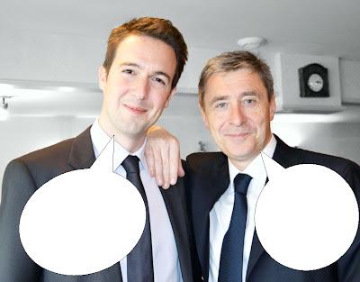 Guillaume Peltier et Philippe Briand sont dans un bateau...