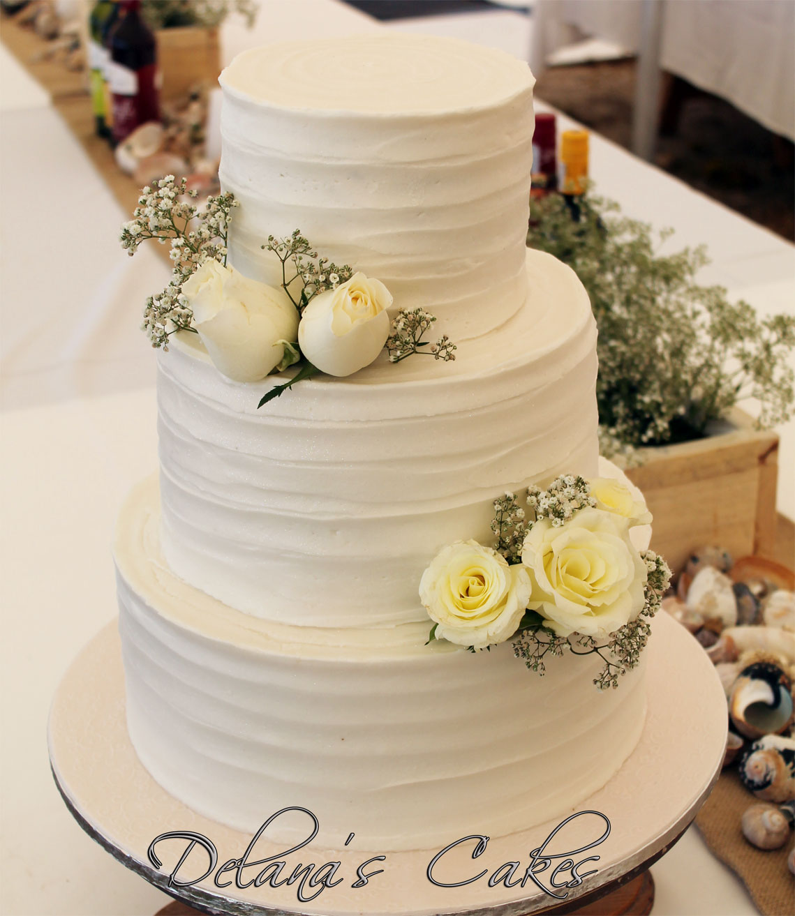Delana\'s Cakes: Textured icing Wedding cake