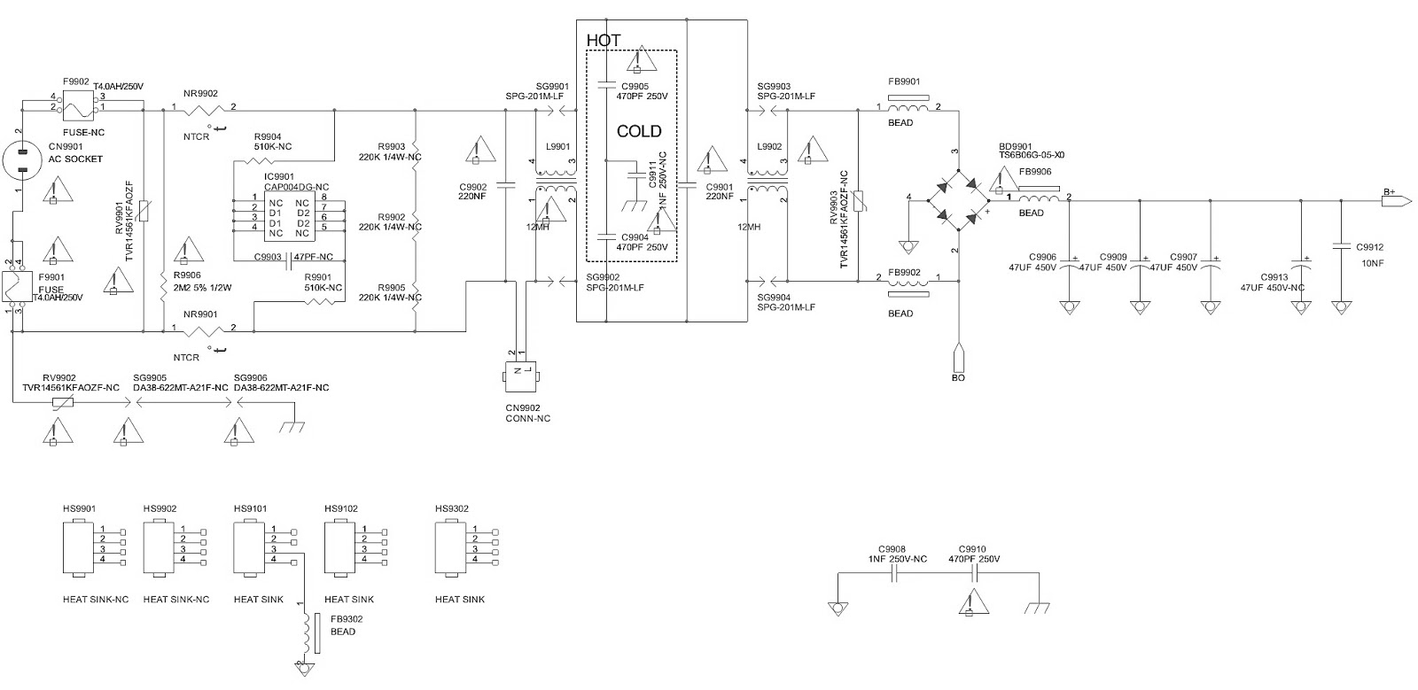 Philips 42pfl4007g78 Smps Schematic 715g5194 Psu 32inch And Ac Led Circuit Diagram Side