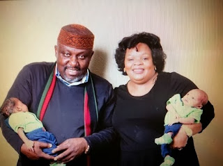 Governor Rochas Okorocha and wife with their Grandchildren