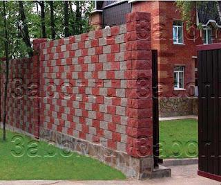 Кирпичный забор. Фото 17