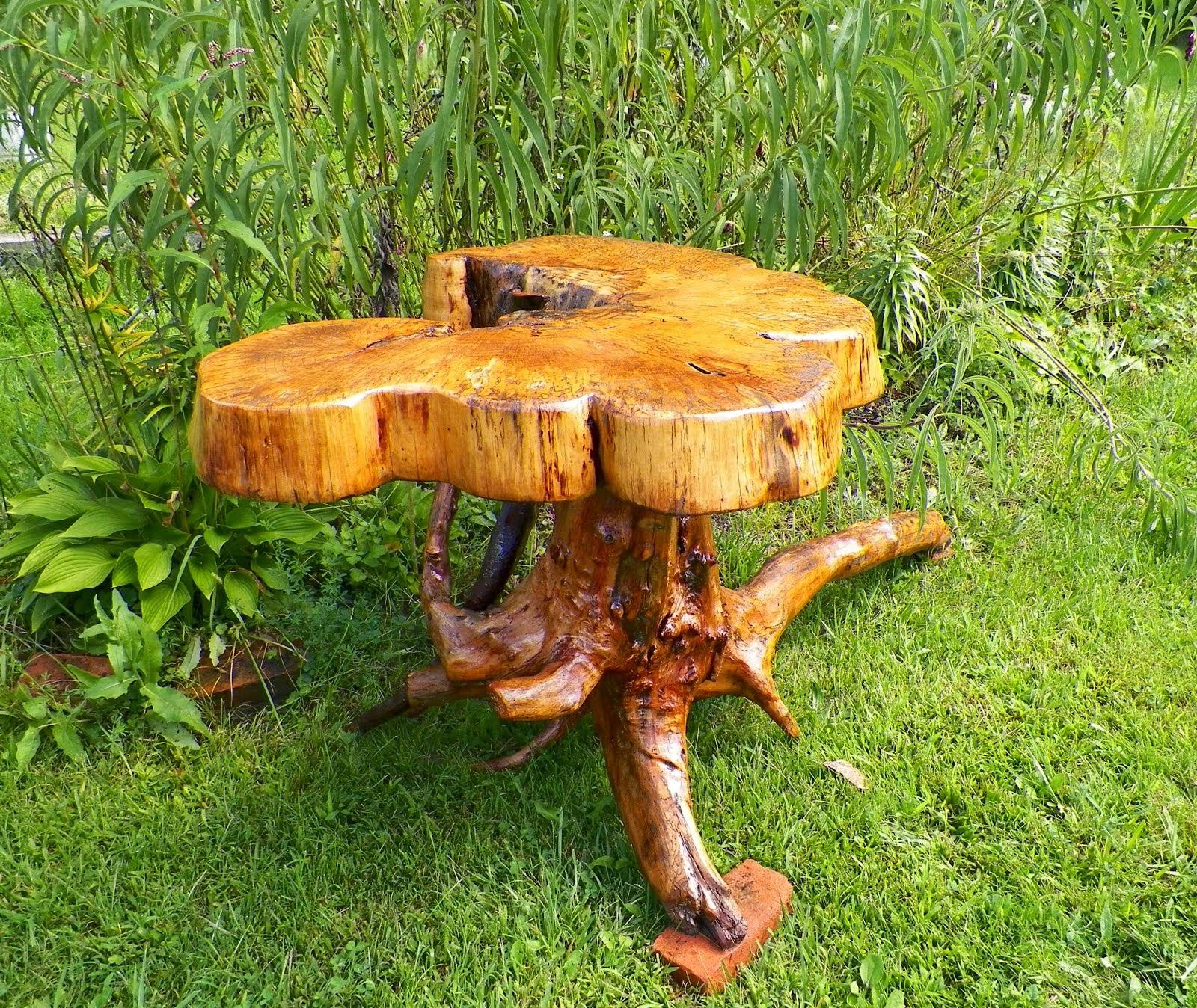 Rustic Burl Table
