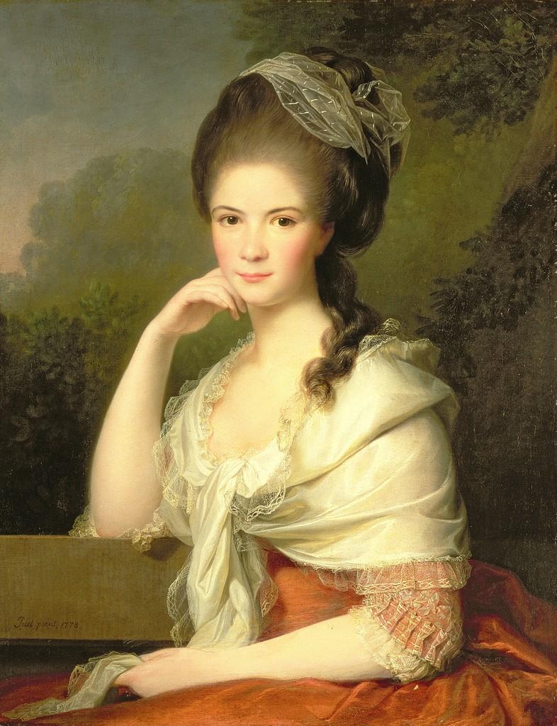 18th century women portraits nude