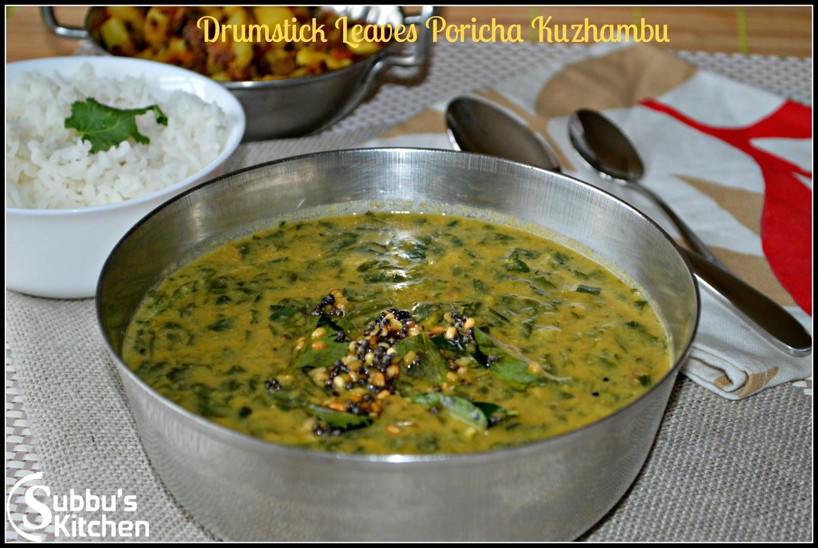 Drumstick Leaves(Murungai keerai) Poricha Kuzhambu