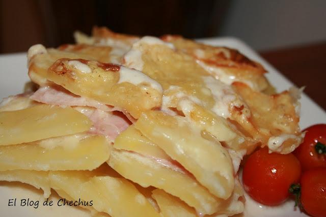 El Blog de Chechus, Lasaña de patata y jamón