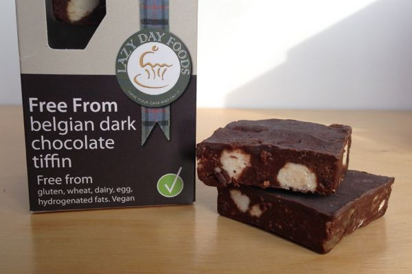 Lazy Days Free-From Tray-Bakes vegan chocolate tiffin