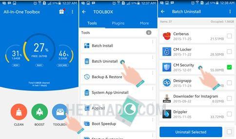 Cara Menghapus Aplikasi AppLock Android