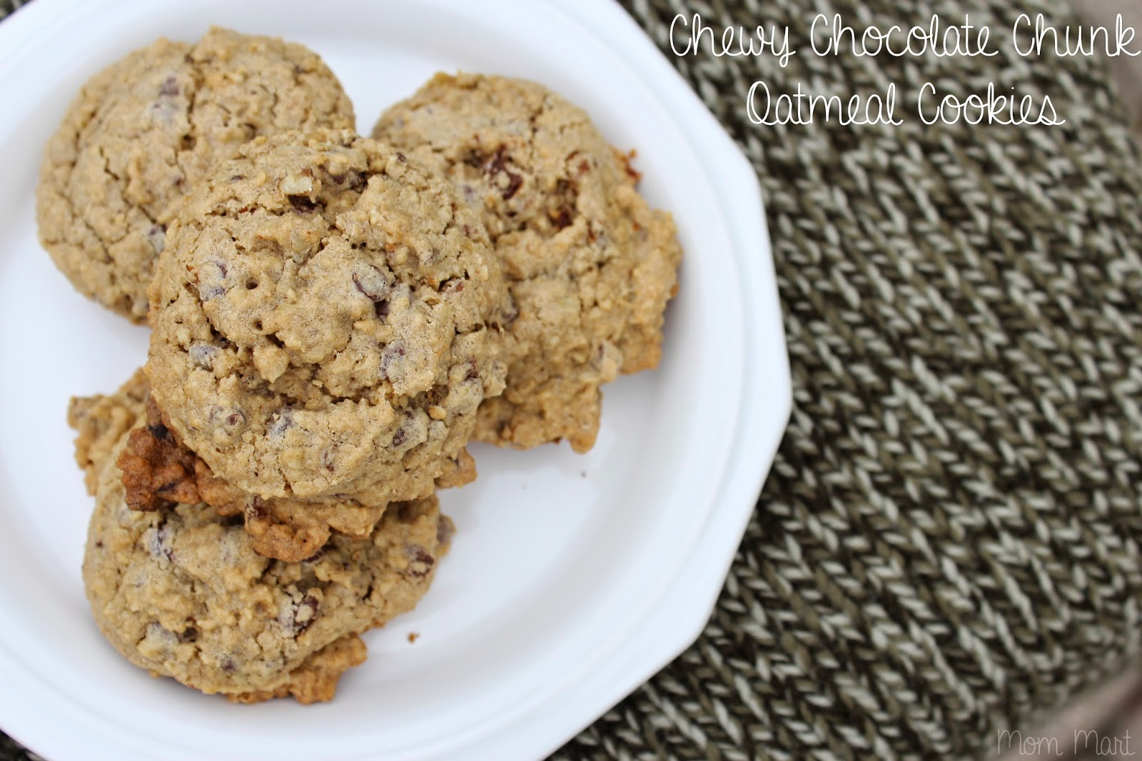 Chewy Chocolate Chunk Oatmeal Cookies #Recipe #Foodie #YUM #Dessert # ...