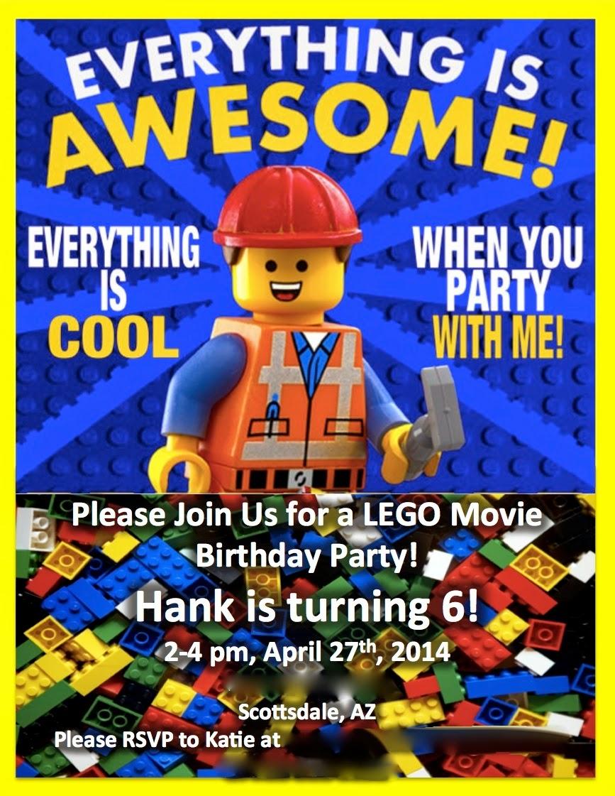 MKHKKH Hanks Lego Movie Birthday Party