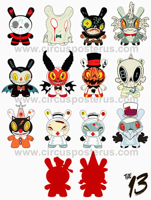 First Look: Kidrobot's The 13 Dunny Series by Brandt Peters (& Kathie Olivas)