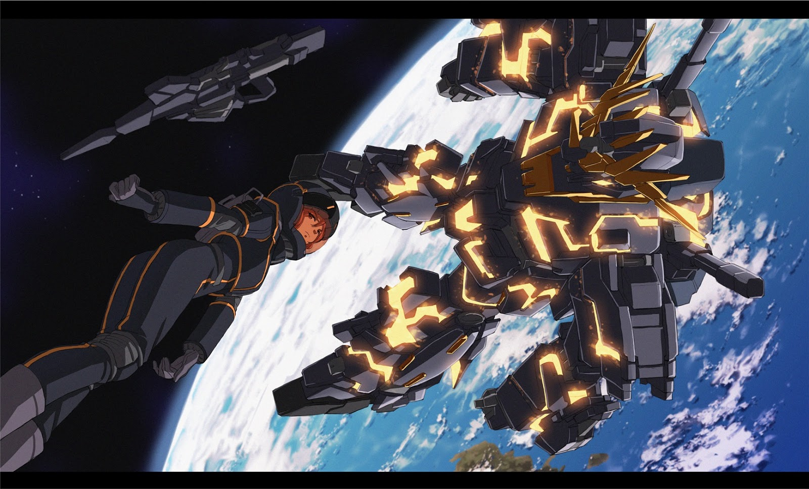 RX-0 Gundam Unicorn 02 Banshee and Marida Cruz Wallpaper ... Gundam Banshee Wallpaper