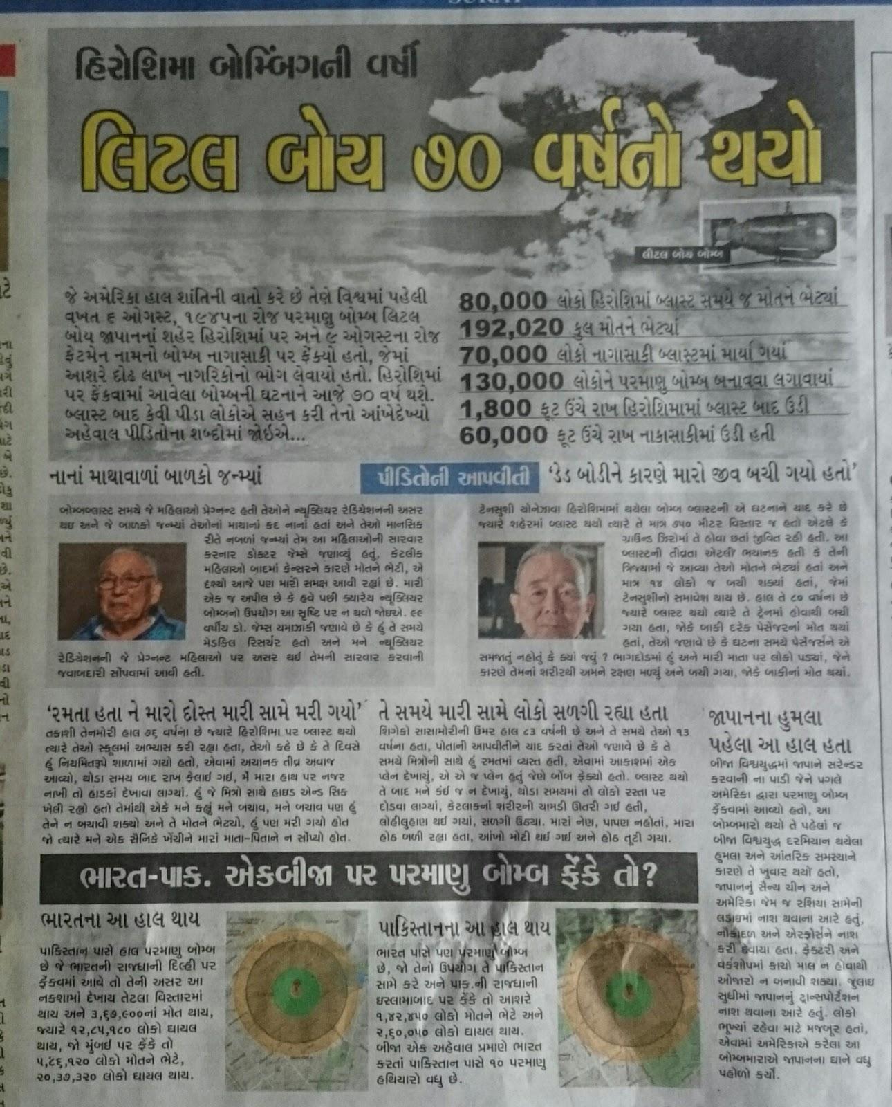 Nitin Pathak: hirosima nagasaki atom bomb