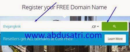 cara mencari tempat domain gratis di internet