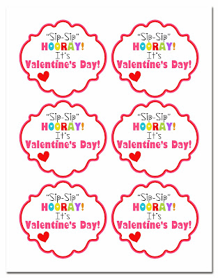 image regarding Sip Sip Hooray Printable identified as Kinzies Kreations: Valentines 2013