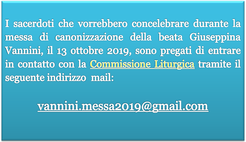 Concelebranti canonizzazione B. Giuseppina Vannini