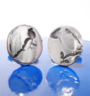 Children's Artwork Silver Cufflinks