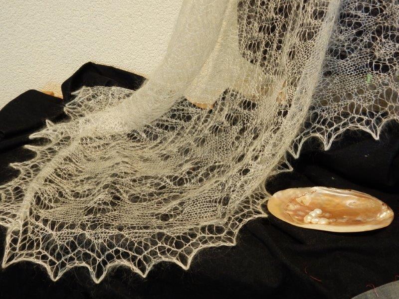 TE KOOP: gloed nieuwe bruidssjaal.