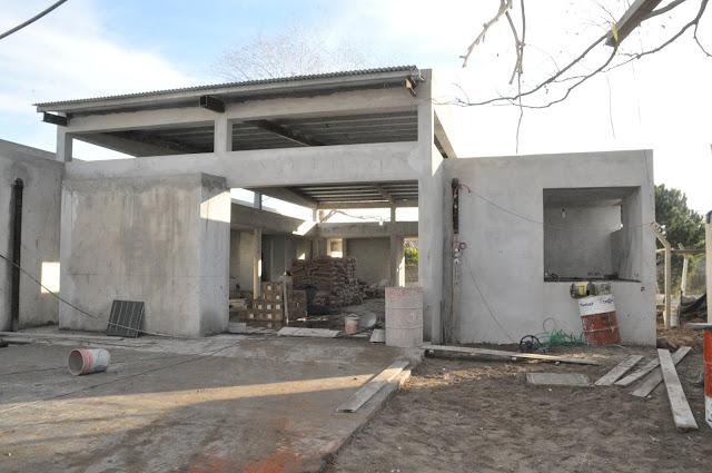 Continúa la construcción del jardín de infantes de Las Toninas